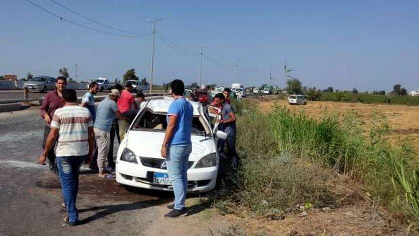 حادث على كبري الرياض
