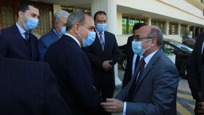 وزير العدل يصل لافتتاح مقر توثيق ضواحي كفر الشيخ