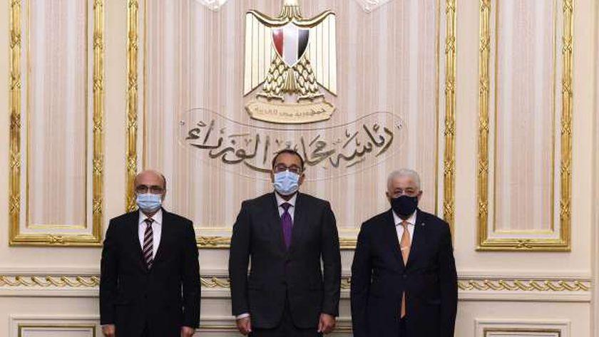 مصطفى مدبولي قبيل توقيع اتفاقية إنتاج الهيدروجين الأخضر