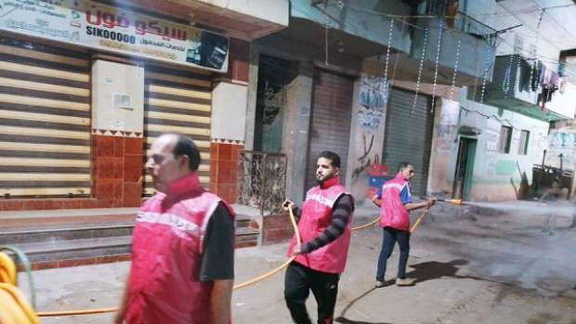 شباب إدارة الأزمة بقرية ميت الصارم