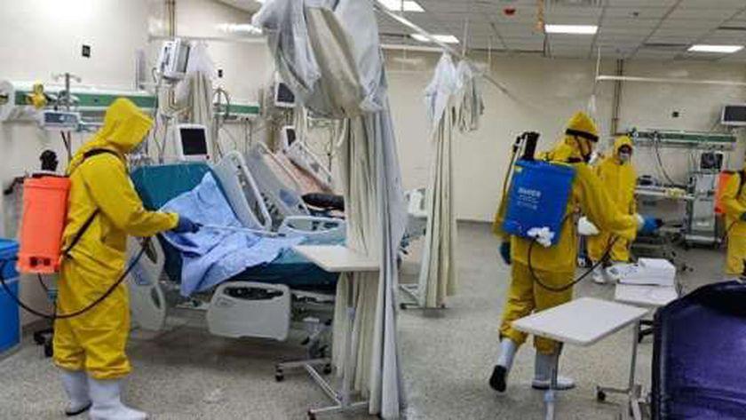 تعقيم مستشفى الجامعة