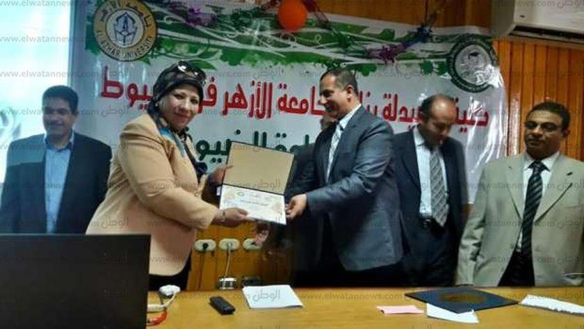 افتتاح كلية الصيدلة بنات بجامعة الأزهر فرع أسيوط