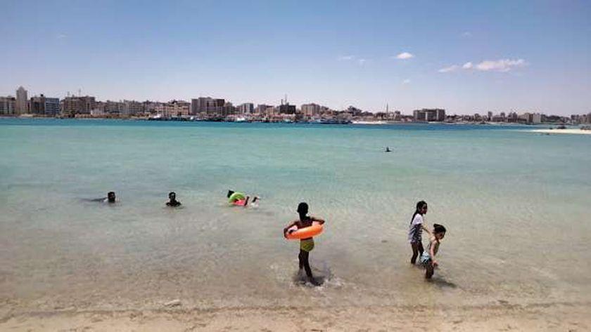 شاطىء روميل بمدينة مرسي مطروح
