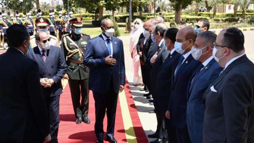 جانب من زيارة الرئيس السيسي إلى السودان