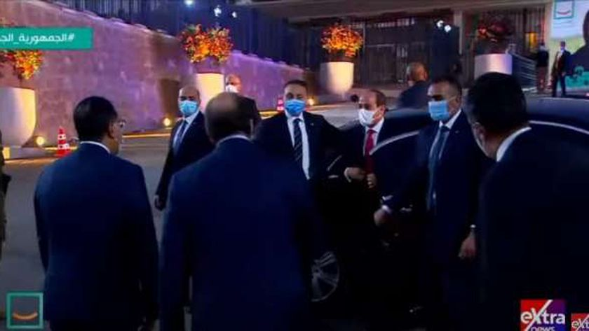 وصول الرئيس السيسي