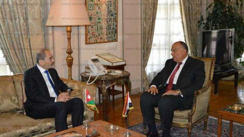 لقاء سابق بين وزير الخارجية سامح شكرى ونظيره الأردنى أيمن الصفدى