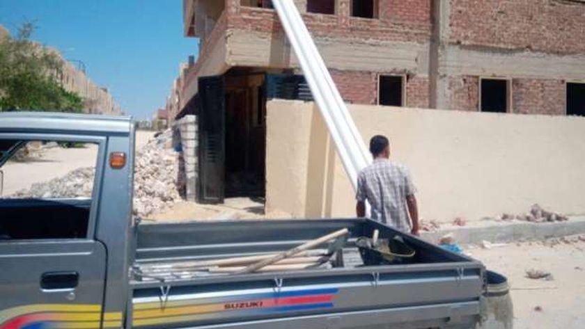 أعمال بناء مخالف بمدينة مرسى مطروح