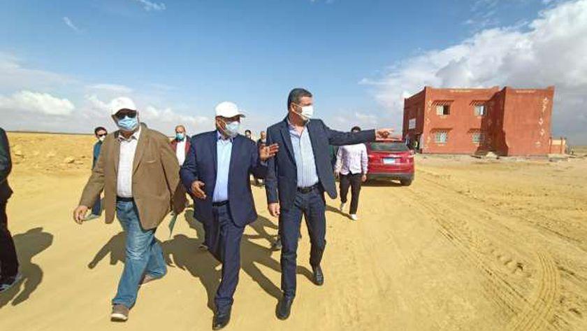 رئيس الريف المصري الجديد خلال افتتاح مقر البنك الزراعي المصري بصحبة رئيس البنك