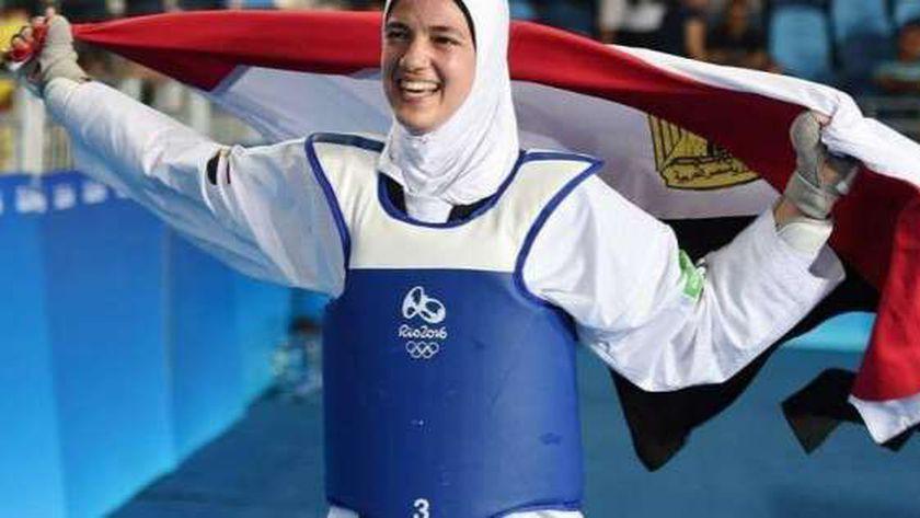 بطلة مصرية تشارك في التايكوندو