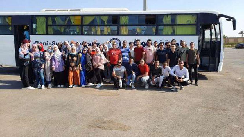 رحلة طلاب جامعة بني سويف إلى معرض الكتاب