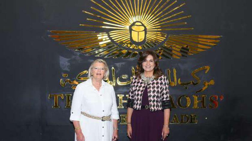 السفيرة نبيلة مكرم وزيرة الهجرة وشئون المصريين في الخارج مع وزيرة الهجرة الهولندية