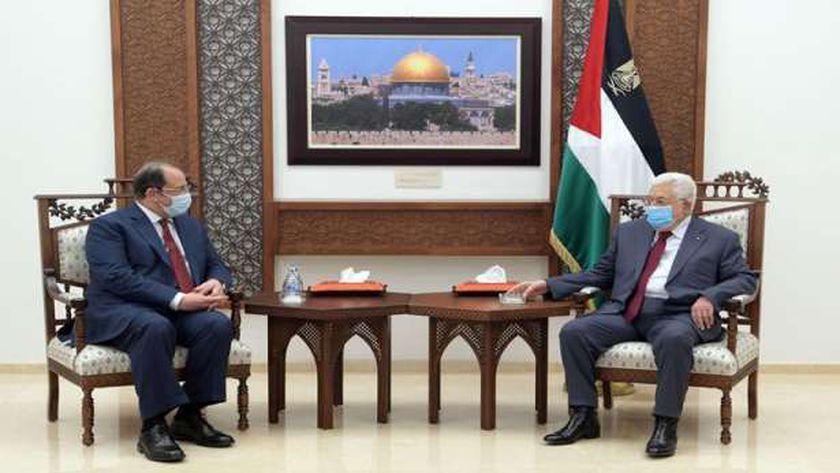 الرئيس الفلسطينى واللواء عباس كامل