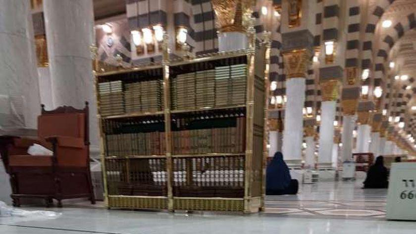 المسجد النبوي في أول يوم فتحه للمصلين