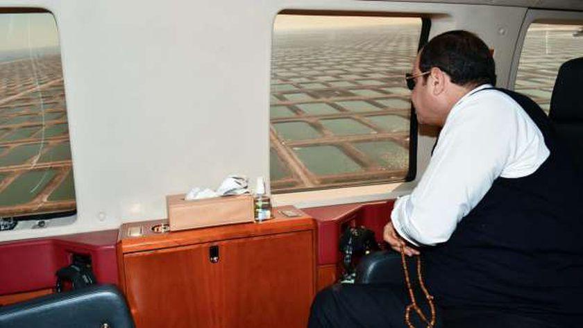 الرئيس اليوم خلال افتتاحه لمشروعات استزراع سمكي