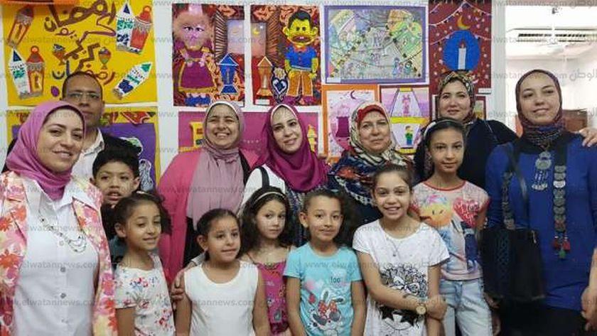 """أطفال """"ثقافة الإسكندرية"""" يودعون رمضان بـ100 لوحة فنية"""