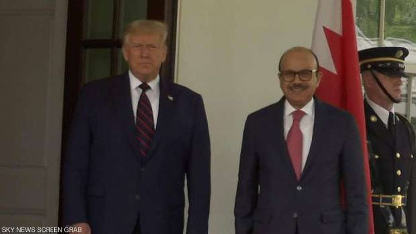ترامب ووزير خارجية البحرين
