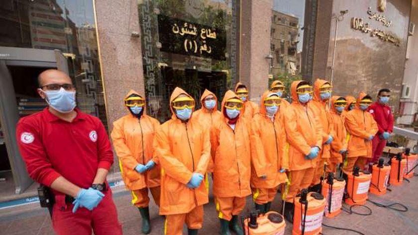 متطوعي الهلال الأحمر المصري