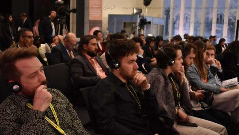 الشباب في أحد جلسات منتدى شباب العالم بشرم الشيخ