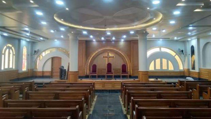 افتتاح الكنيسة الإنجيلية بالكوم الأخضر بالمنيا بعد تجديدها بالكامل