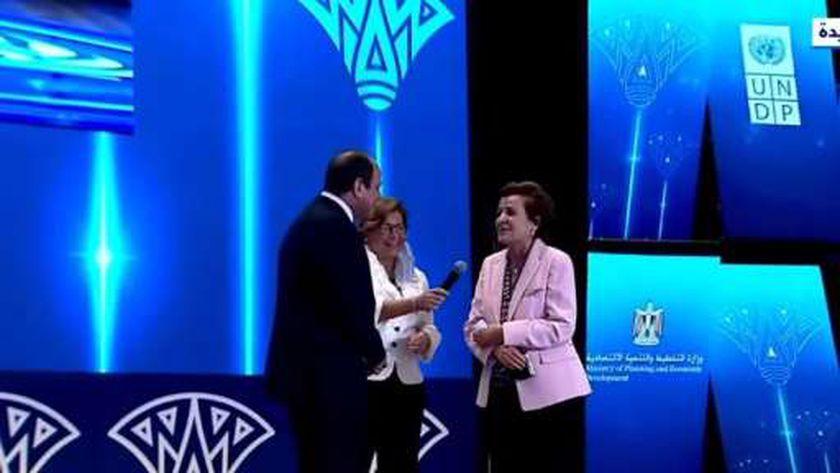 والدة راندة أبو الحسن الممثل المقيم لبرنامج الأمم المتحدة الإنمائي في مصر