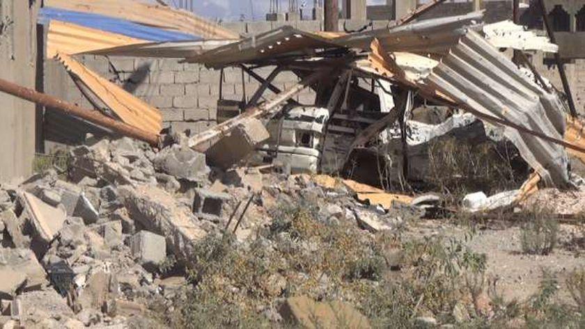 آثار الدمار التى لحقت بليبيا بعد سقوط «القذافى» «صورة أرشيفية»