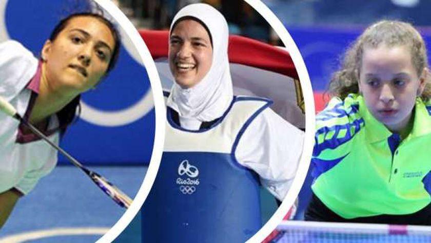 لاعبات مصر في أومبياد طوكيو