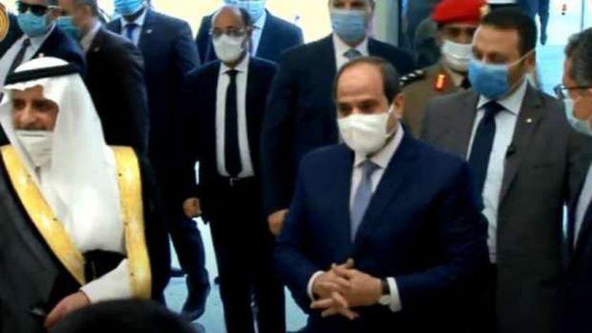 الرئيس السيسي أثناء افتتاحه جامعة الملك سلمان بشرم الشيخ