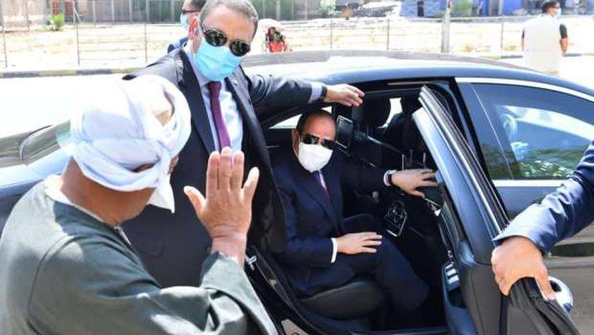 الرئيس عبدالفتاح السيسي خلال جولته