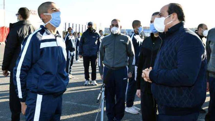 الرئيس السيسي خلال زيارته اليوم لأكاديمية الشرطة