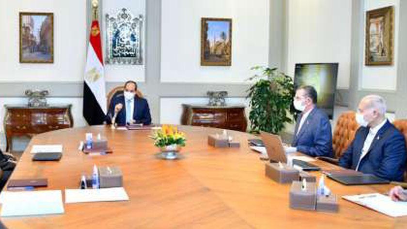 اجتماع الرئيس عبد الفتاح السيسى مع رئيس الوزراء