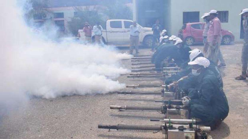 """""""سلمان للإغاثة"""" يدشن حملة الرش الضبابي لمكافحة حمى الضنك في عدن"""