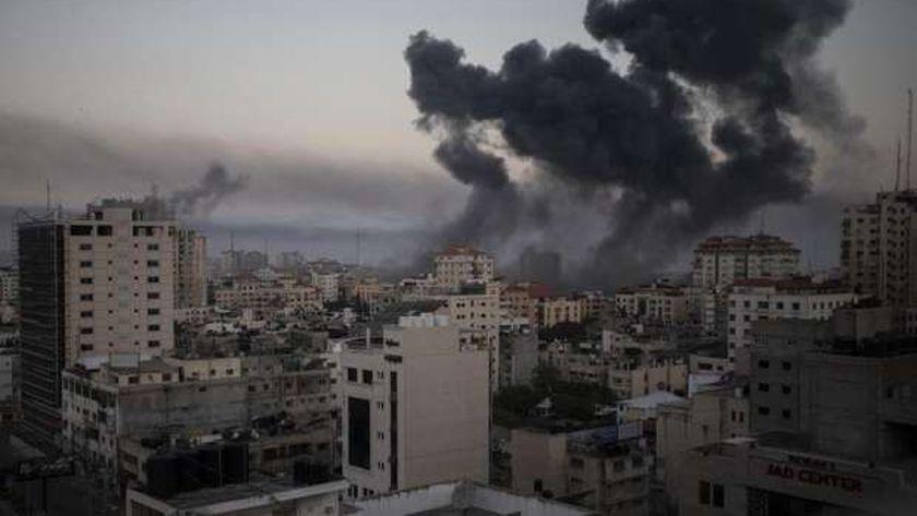 جانب من العدوان الإسرائيلي الغاشم على قطاع غزة