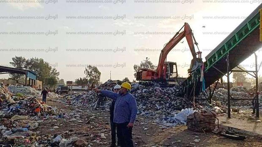 """استجابه لـ""""الوطن """"وزيرة البيئةتدعم بخط بتكلفة 6مليون بمصنع قمامةالمحلة"""