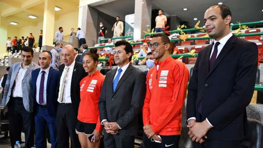 وزير الرياضة خلال اختتام منافسات بطولة العالم للخماسي الحديث