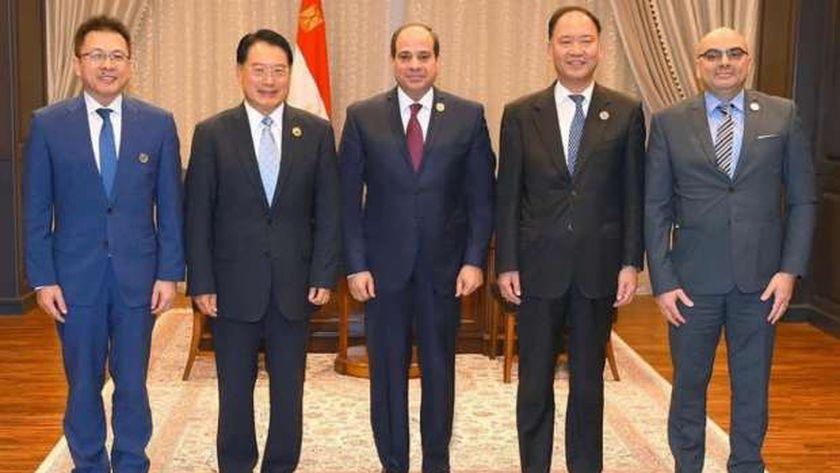مدير اليونيدو مع الرئيس عبدالفتاح السيسي