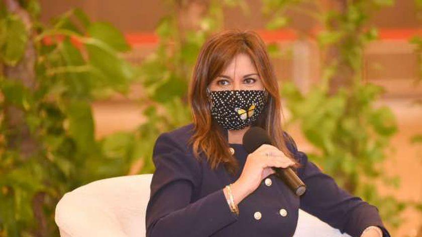 وزيرة الهجرة خلال ورشة العمل