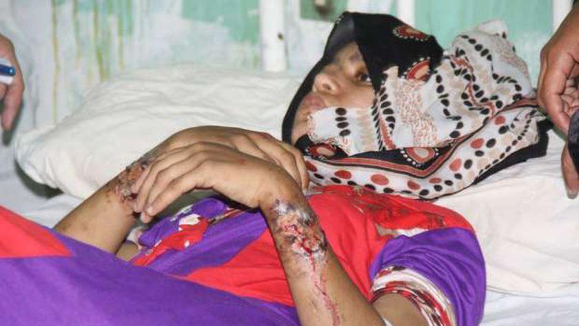 حياة اثناء تلقيها العلاج بمسشتفي سوهاج العام