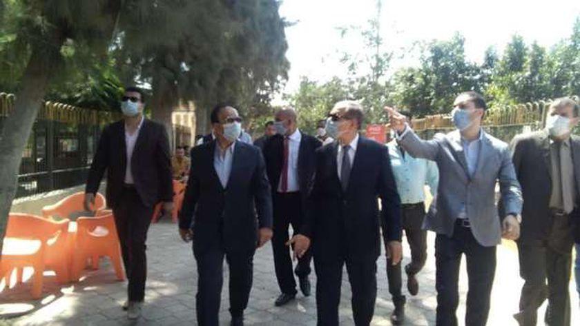 محافظ كفر الشيخ يتفقد حديقة صنعاء