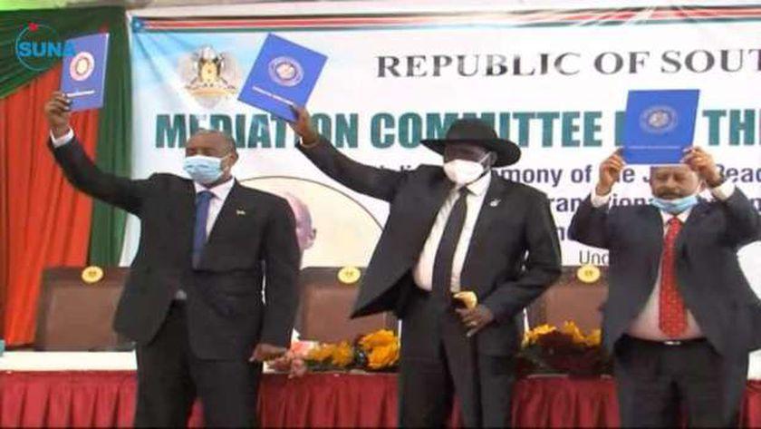 توقيع اتفاق السلام في جوبا