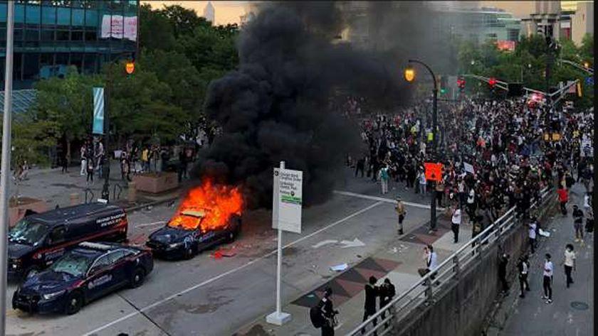 احتجاجات فى أمريكا