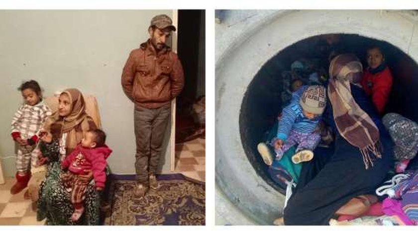 بسام وأسرته من الماسورة إلى منزل