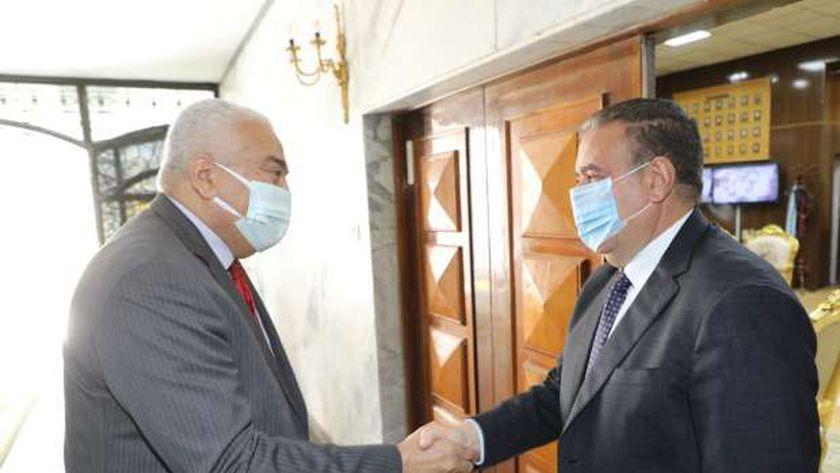 محافظ المنوفية ورئيس جامعة مدينة السادات