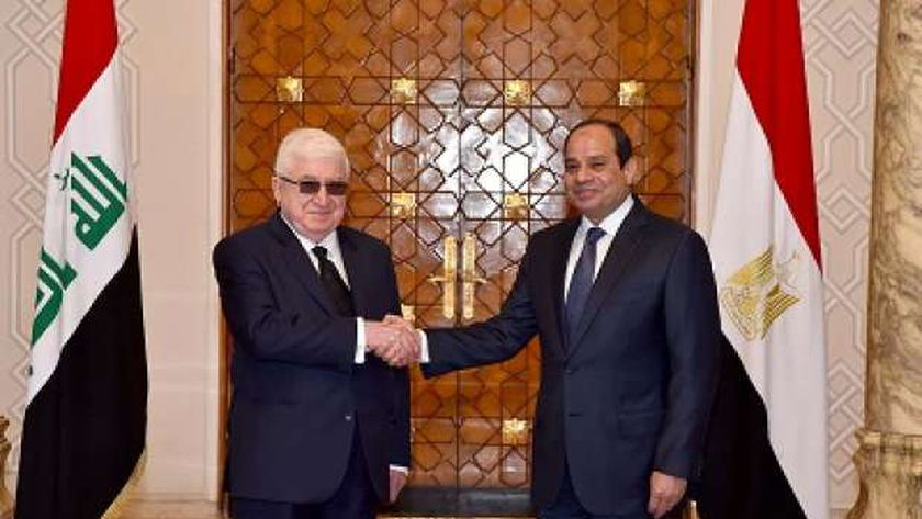 الرئيس عبدالفتاح السيسى فى لقاء سابق بنظيره العراقى