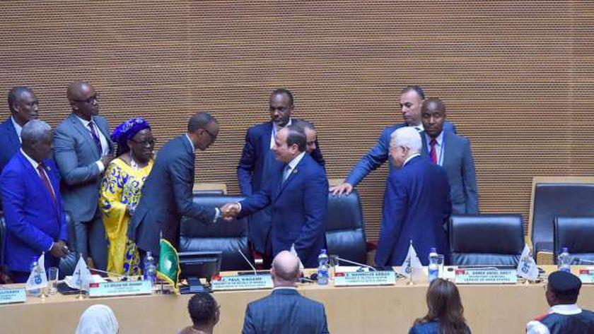 الرئيس عبدالفتاح السيسى خلال تسلمه رئاسة الاتحاد الأفريقى «صورة أرشيفية»