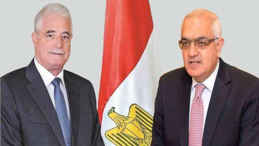 رئيس جامعة المنصورة محافظ جنوب سيناء