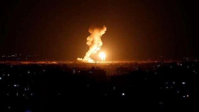 غارات قوات الاحتلال الإسرائيلي على غزة