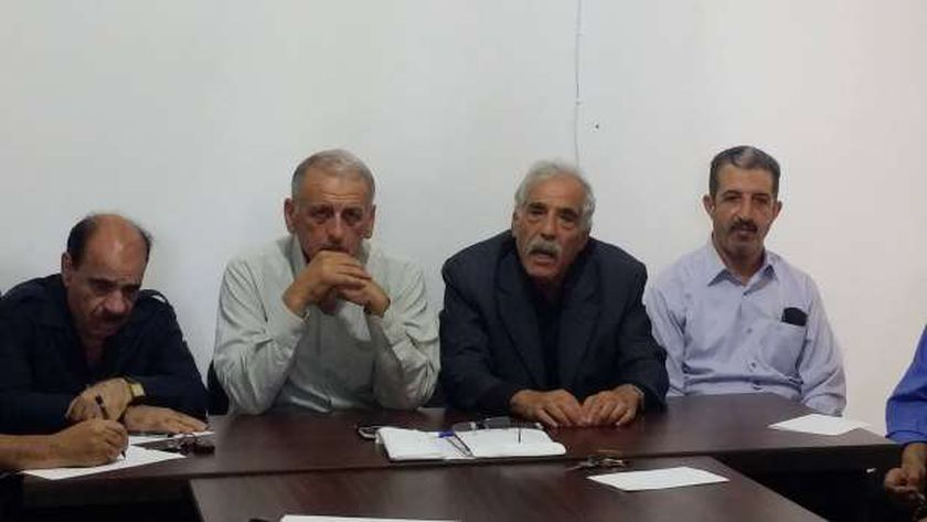 قيادات حركة فتح الفلسطينية فى مؤتمر صحفى سابق «صورة أرشيفية»