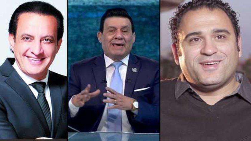 طارق علام وأكرم حسني ومدحت شلبي.. من الباشا ضابط لـ الباش إعلامي  - فن وثقافة -