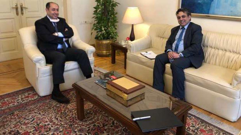 السفير حسام زكي وسيهانوك ديبو