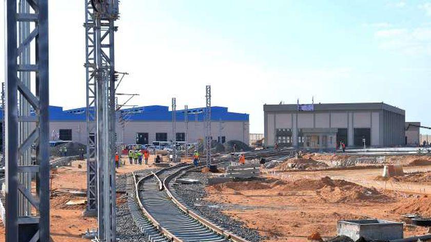 إحدى محطات القطار الكهربائي